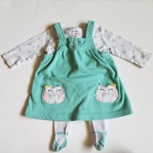 Carter's Baby Girl Owl Jumper Outfit